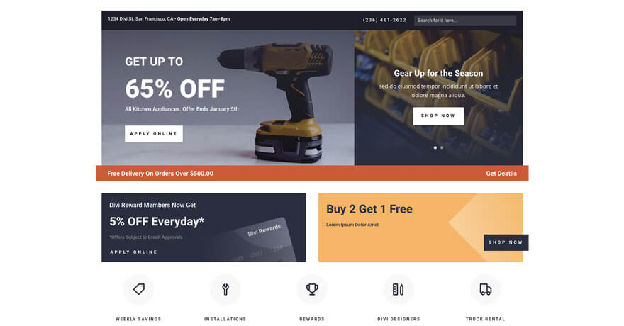 Hardware Store Website