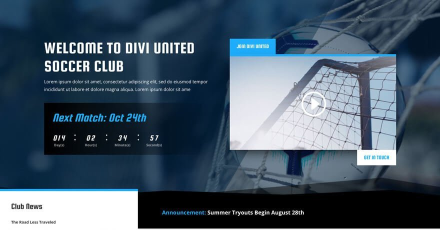 Soccer Club Website